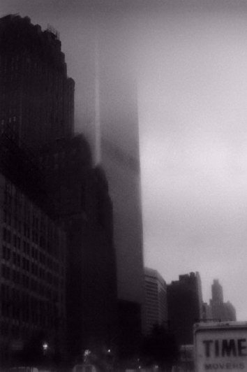 the World Trade Center -- as it was earlier this year on a foggy day